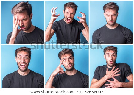 young man acting surprised stock photo © feedough