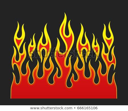 hot · rod · versenyzés · lángok · vektor · láng · terv - stock fotó © squarelogo