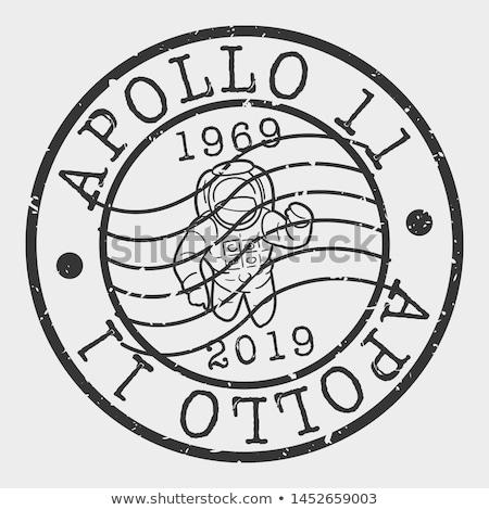 USA stamp - Apollo Moon Mission Stock photo © samsem