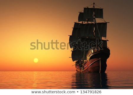 Tall Ship at Sea Stock photo © AlienCat