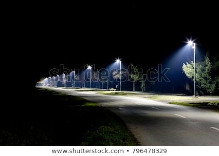 Modern sokak ışık yeni kutup gökyüzü Stok fotoğraf © iTobi