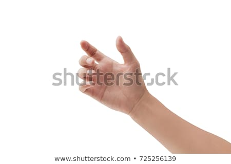 Stock photo: Male hand holding something
