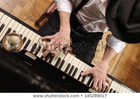 Klavye oyuncular eller seçici odak hüzün festival Stok fotoğraf © Gordo25