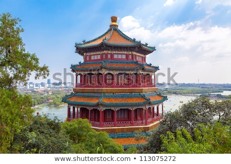 Summer Palace Clear Blue Sky Beijing, China Stock photo © billperry