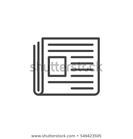 Vector newspapers and news icon. stock photo © ikatod