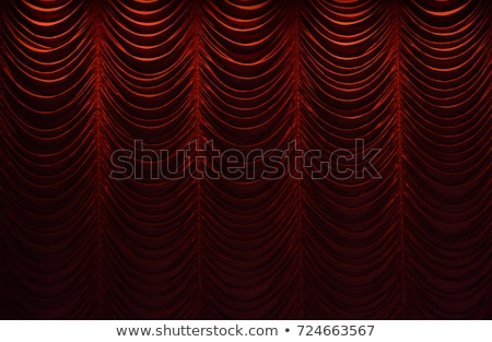 lighted down red stage curtain stock photo © vetdoctor