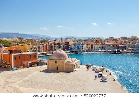 старые венецианский порт Греция небе воды Сток-фото © maisicon