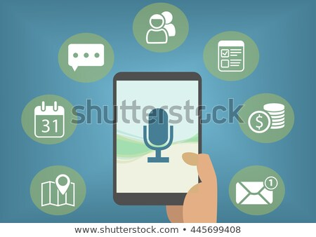 Vector icon personal digital assistant Stock photo © zzve