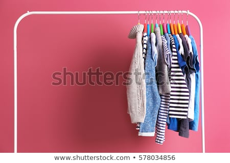 Wardrobe with child clothes Stock photo © cheyennezj