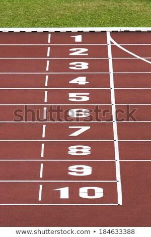 Szám tíz fut útvonal atlétika összes Stock fotó © stevanovicigor