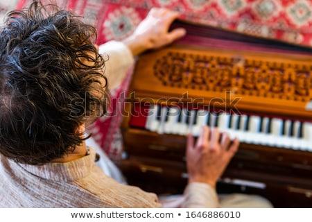 играет молодые красивая женщина женщины красоту белый Сток-фото © luminastock