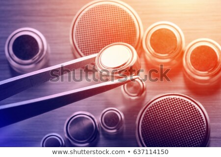 moeda · lítio · branco · metal · grupo - foto stock © Discovod