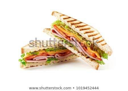 マグロ · チーズ · サンドイッチ · サラダ · 魚 · 新鮮な - ストックフォト © m-studio