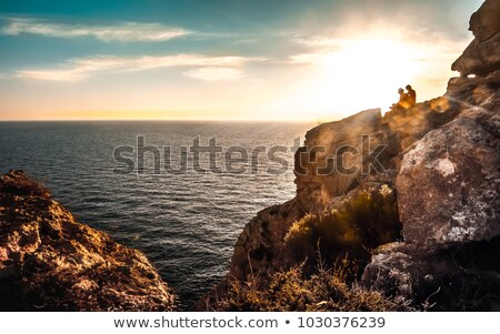 sunset in a beach of Formentera, Balearic Islands, Spain Stock photo © nito