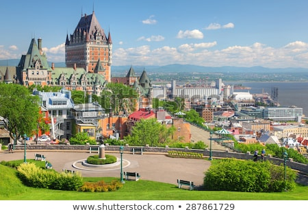 Chateau Frontenac in Quebec City, Canada Stock photo © aladin66