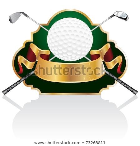 ゴルフ シールド エンブレム フローラル つる ストックフォト © mikemcd