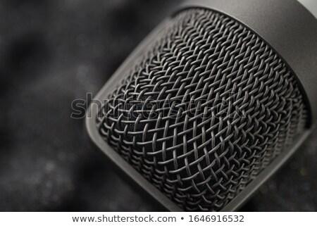 Vocal microphone macro Stock photo © sumners