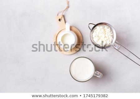 kefir · süt · şişe · cam · taze - stok fotoğraf © doupix