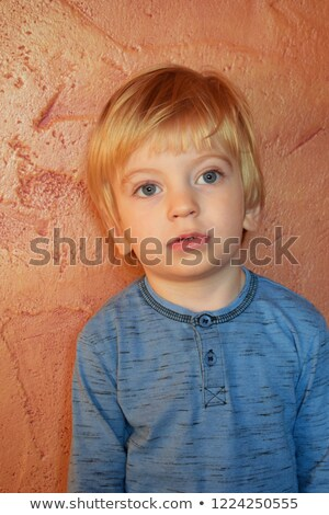 half face of blonde with plastered hair Stock photo © photography33
