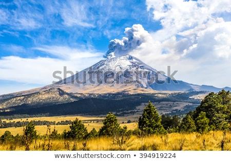Volkan Meksiko manzara kaya dağlar Stok fotoğraf © jkraft5