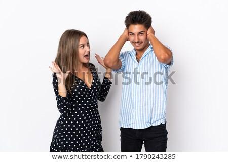 Zwei jungen Mädchen böse schreien laut Stock foto © juniart