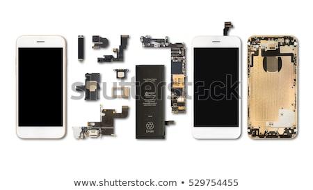 Mobiltelefon alkotóelemek fehér telefon terv kommunikáció Stock fotó © grafvision