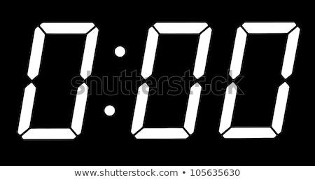 Digital clock show zero hours zero minutes Stock photo © inxti