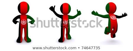 3D характер флаг Алжир изолированный Сток-фото © Kirill_M