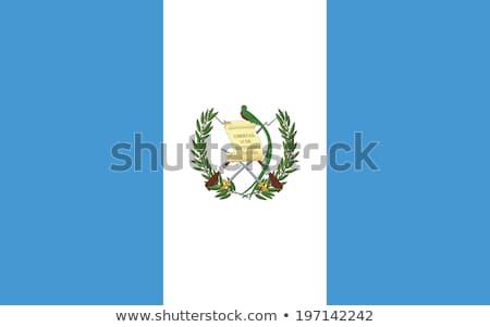 Bayrak Guatemala rüzgâr Stok fotoğraf © creisinger