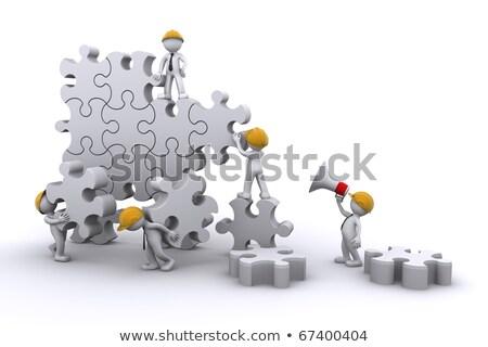 бизнес-команды работу здании головоломки бизнеса развивающийся Сток-фото © Kirill_M
