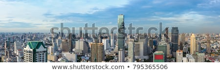 bangkok downtown skyline panorama stock photo © vichie81