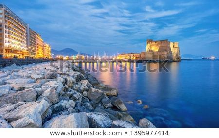 Napoli güzel görmek ünlü kale İtalya Stok fotoğraf © sailorr