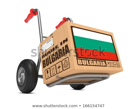 Made in Bulgaria - Cardboard Box on Hand Truck. Stock photo © tashatuvango