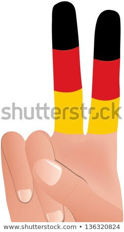 EPS Vector 10 of  male hand gesturing peace sign in German Flag Stock photo © Istanbul2009