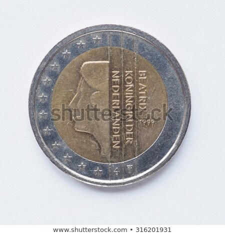Due euro moneta Holland re arancione Foto d'archivio © compuinfoto