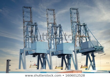 Port terminal for loading and offloading ships Stock photo © juniart