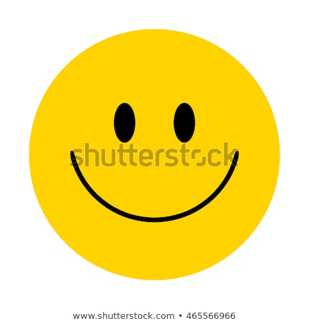 Happy Smiley Face - Yellow Button Stock photo © iqoncept