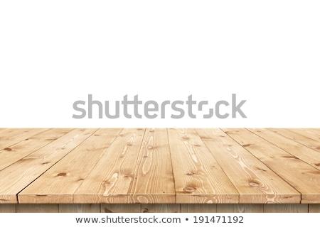 Boş ahşap masa üst ürün yerleştirme ahşap masa Stok fotoğraf © stevanovicigor