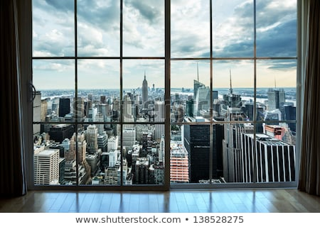 beautiful city view from the window Stock photo © ssuaphoto