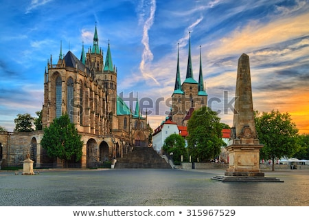 erfurt cathedral in the evening stock photo © meinzahn