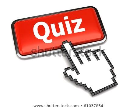 Pergunta vermelho 3D palavra mão cursor Foto stock © tashatuvango