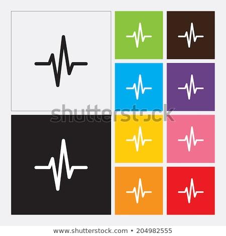 Resumen corazón cardiograma eps 10 vector Foto stock © beholdereye