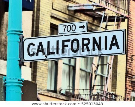 Placa de la calle calle hollywood carretera escrito tráfico Foto stock © meinzahn