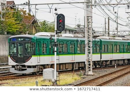 Local locomotora tren kyoto viaje velocidad Foto stock © vichie81