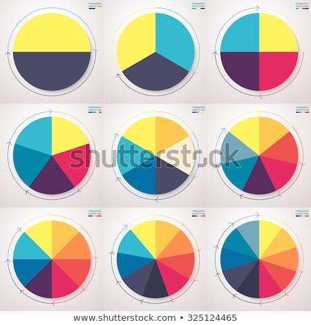kördiagram · fehér · üzlet · háttér · pénzügy · grafikon - stock fotó © designers