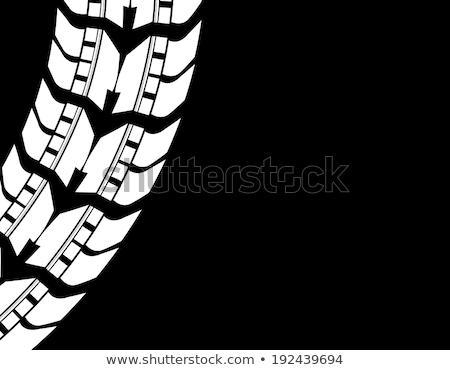 blanche · silhouette · moto · noir · vecteur · voiture - photo stock © place4design