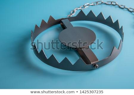 Trampa 3D generado Foto metal dientes Foto stock © flipfine