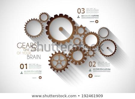 infographic timeline with gear mechanic concept stock photo © davidarts