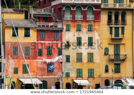 Renkli evler tipik görmek ünlü ev Stok fotoğraf © faabi