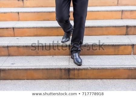 Pants cadere giù silhouette uomo Foto d'archivio © blamb